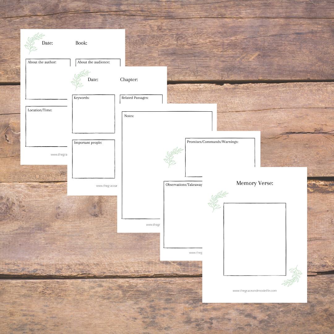 Free Printable Bible Study Sheets